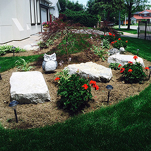 Kick Gas Lawn Care provides landscaping services like garden bed installations throughout Mississauga.