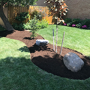 Kick Gas Lawn Care provides landscaping services like plant, tree and shrub installations throughout Mississauga.