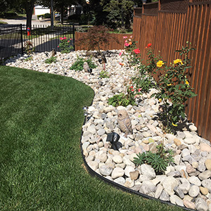 Kick Gas Lawn Care provides landscaping services like stone garden installations throughout Mississauga.